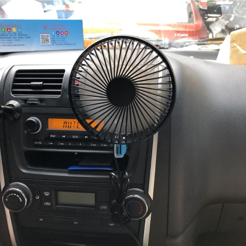Universal <font><b>5V</b></font> 360 Degree Rotation Adjustable Angle Car Air Vent <font><b>USB</b></font> <font><b>Fan</b></font> 3 Speed Electric Air Blower Cooling <font><b>Fan</b></font> with ON OFF image