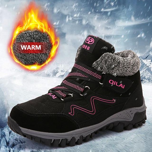 MWY Kış sıcak Bayan Ayakkabı Daireler Zapatillas Mujer Deportiva Yüksek Üst Sneakers Kadın rahat ayakkabılar Platformu Artı Kadife Eğitmenler