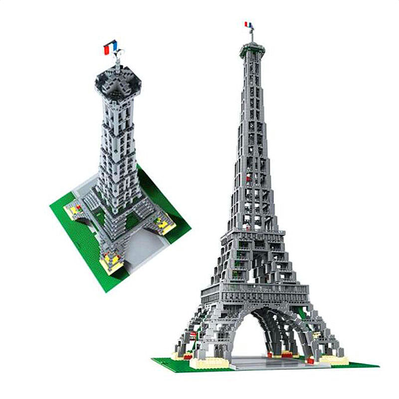 Lepin Creator 17002 3478PCS Eiffel Tower Sets Compatible 10181 3D Model Building Kits Blocks Bricks Toys For Children Gifts 1681pcs assembly blocks burj khalifa tower model toy diamond bricks kids gifts birthday present compatible creator 16 16 45cm