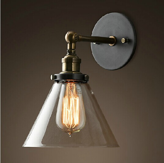ФОТО LOFT American country creative personality European Hotel Der Bar industry staircase wall lamp iron bedside lamp