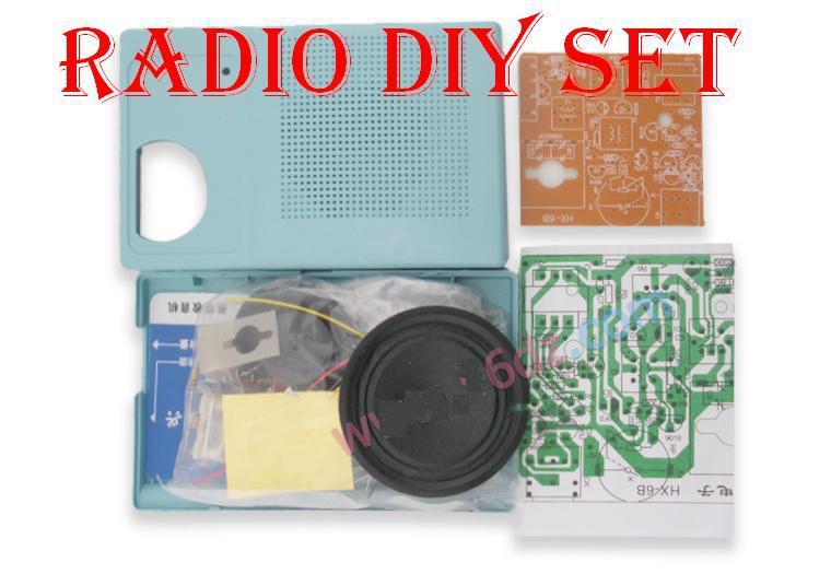 Free shipping!!!1 SET HX-6B 6 Tubes Superheterodyne AM Radio DIY Suite