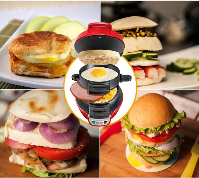 цена Electric Hamburger Machine Non-Stick Hamburger Maker For Breakfast Household Sandwich Maker 600W 220V 25470-CN онлайн в 2017 году