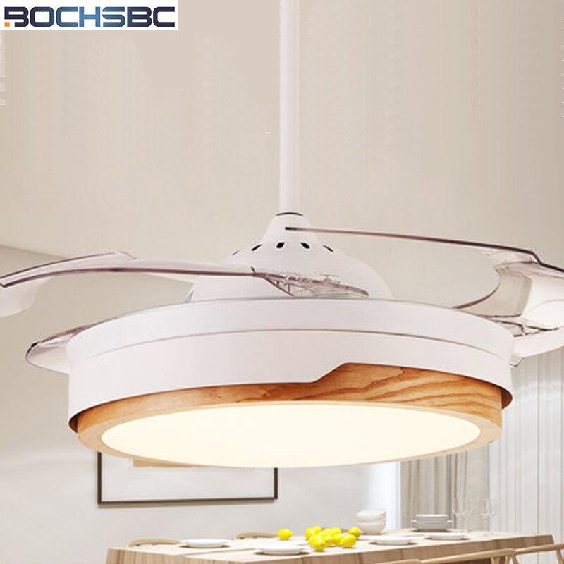 BOCHSBC Невидимый вентилятор свет гостиная столовая спальня украшения потолочный вентилятор свет современный минималистичный светодио дный