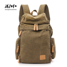 Fashion Ultra-Large Capacity Canvas Backpack Casual Men Bag Business Outdoor Leisure canvas rucksack