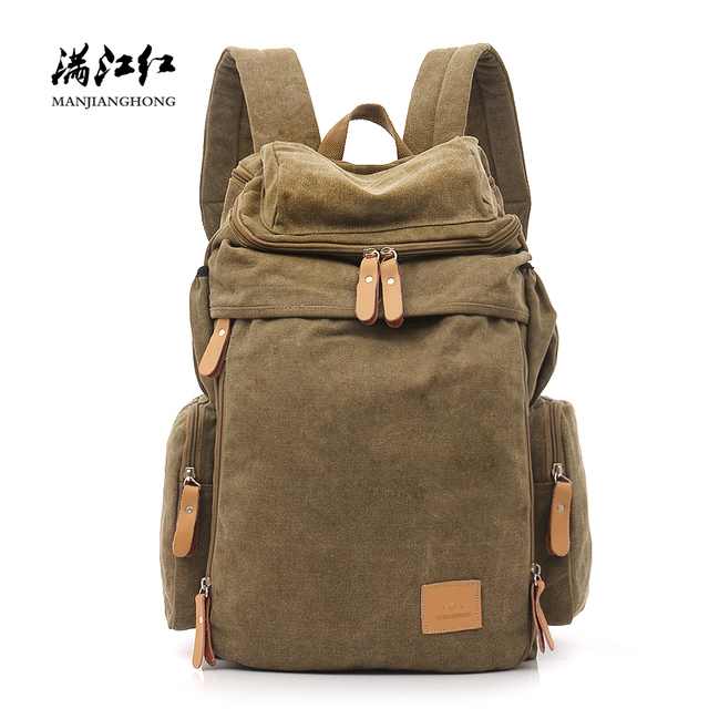 Large Capacity Canvas Travel Backpack Men Vintage Male Laptop Backpack Bag 14 inch Casual Women Backpack School Rucksack 1123
