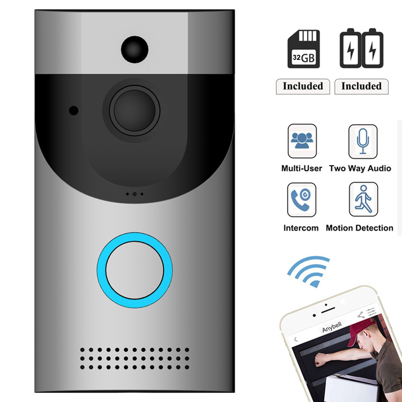 Smart Wireless Mobile APP Video Intercom Doorbell Camera Two Way Talk WIFI Video Call Low Power Consumption Video-eye Doorbell image