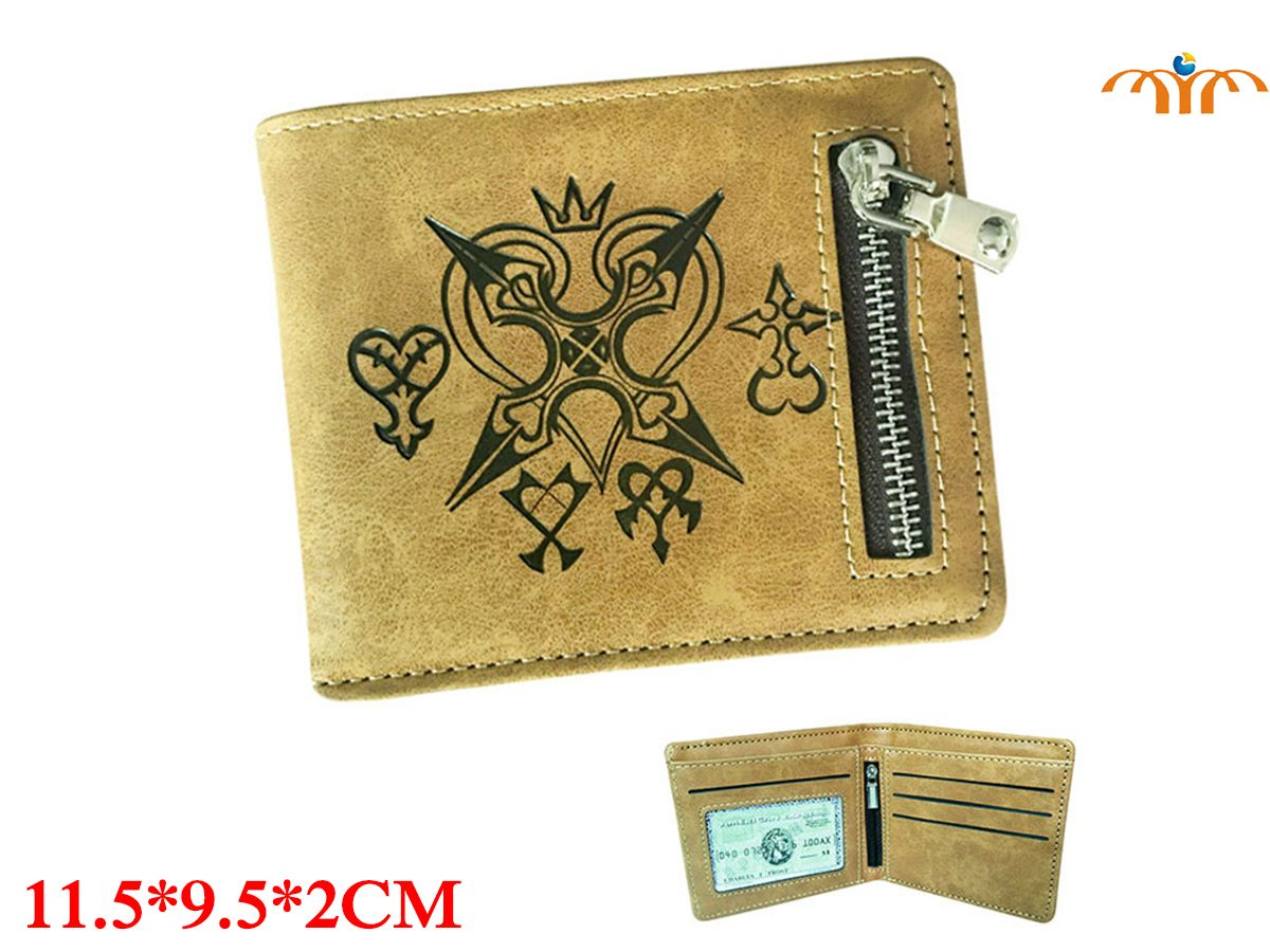 Kingdom Of Hearts Game PU Leather Wallet Fashion Coin Pocket Card Holder Game Peripheral Product