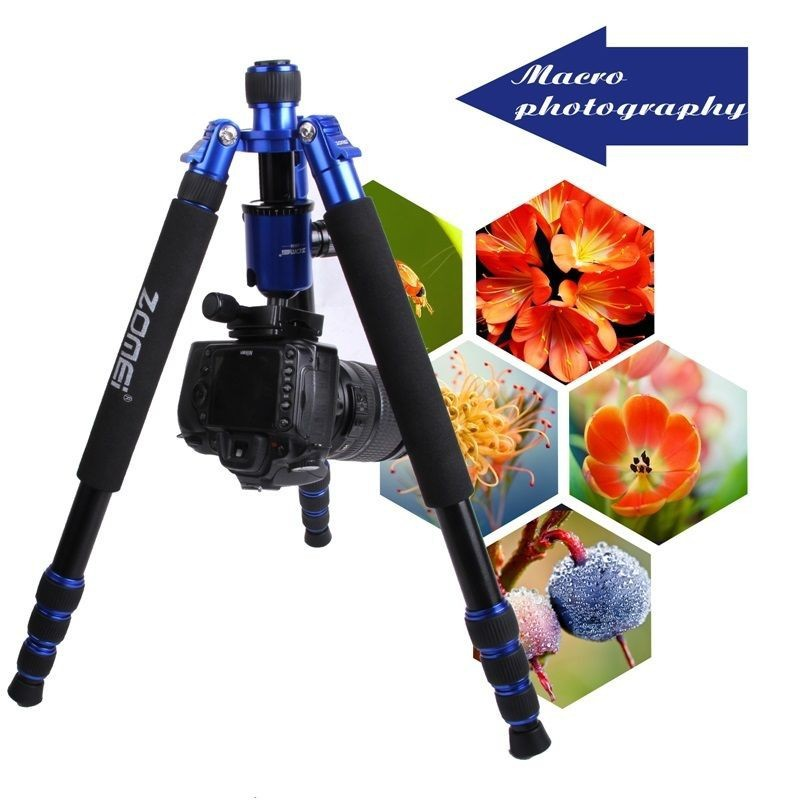 High Quality Pro Magnesium Aluminum dslr camera Travel Tripod Monopod&Ball Head for DSLR Camera cs pro dslr package