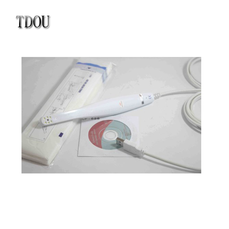 TDOUBEAUTY 1 PC Intra oral camera 2 million pixels 6 LED CF-686A 1/4 CMOS USB 2.0 Free Shipping