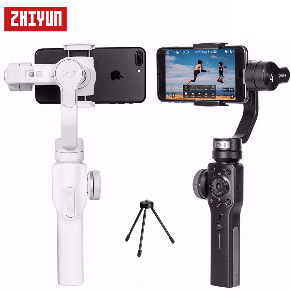 Zhiyun Smooth 4 3-Axis Handheld Gimbal Stabilizer for iPhone X 8 7 Plus Samsung Galaxy S8+ S8 + Gimbal Mini Tripod