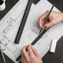 Пачка высокого качества, цветная 30 см Алюминиевая треугольная линейка, алюминиевая 1:20-1: 600 металлическая шкала regua desenho H0046