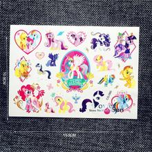 1PC Fashion My Little Pony Waterproof Cartoon Tattoo Stickers PCG-085 Child Body Art Arm Tatouage Taty Tattoo Baby Summer Style