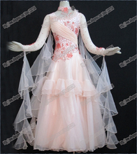 Modern Waltz Tango Ballroom Dance Dress, Smooth Ballroom Dress,Standard Ballroom Dress Girls B-0069