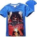 2016 мода летнего звездные войны мультфильм детской одежды для детей мальчики футболки спандекс с коротким рукавом хлопка майка 8173