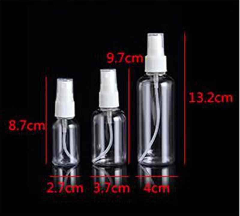 100/50 ml limpar spray de plástico perfume desinfetante spray bomba garrafa pulverizador vazio garrafas recarregáveis névoa bomba atomizador viagem