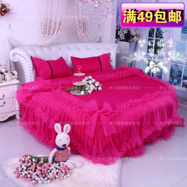 Dream Castle Round Bed Lace Four Piece
