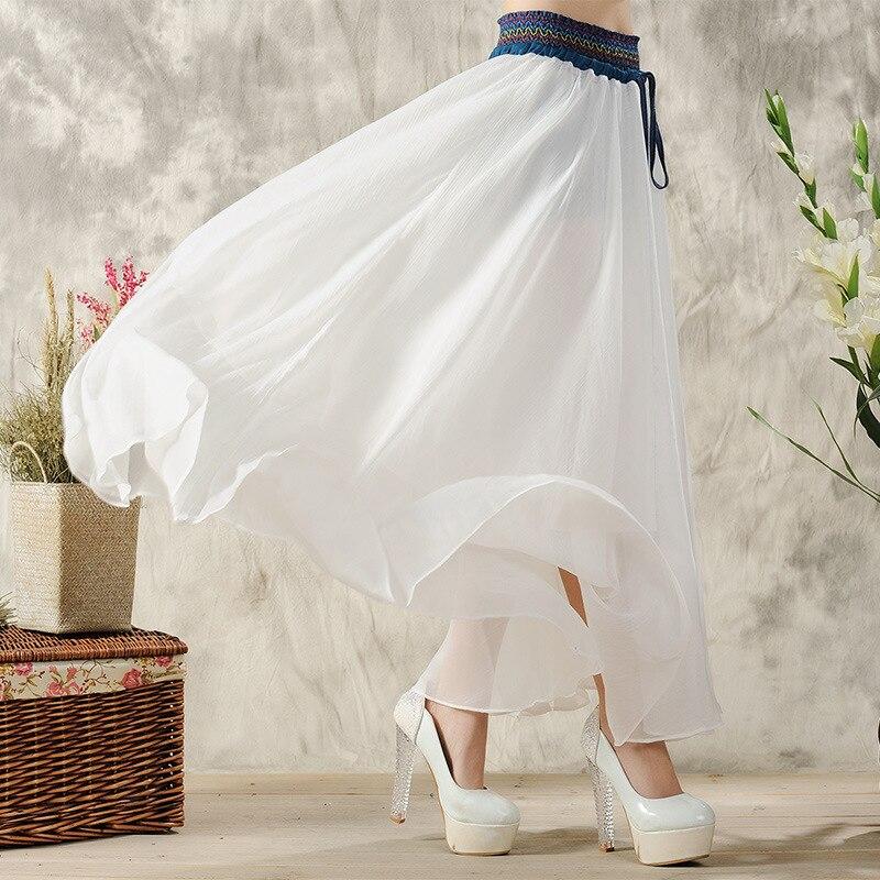 Online Shop Women Bohemian Long Maxi Boho Gypsy White Skirt Ethnic ...