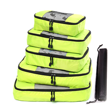 QIUYIN 5Pcs/set Large Capacity Travel Bags Handbags Clothing Bolsa Bag Packing Cubes Set Organizer Duffle luggage
