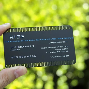 Wholesale customized logo electroplated black matte metal card