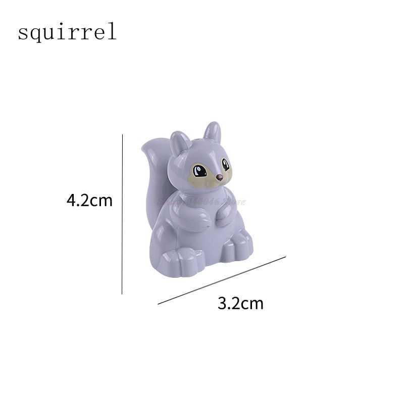 デュプロセットロック動物ビッグ粒子ペンギンspuirrel亀白ウサギはほとんど虎のおもちゃ互換ロックduploedブロック