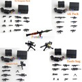 Pogo Military Series Third-party Weapons Pack Brick For Mini Army Soldier figure SWAT AK GUN Shotgun Police Compatible with Lego