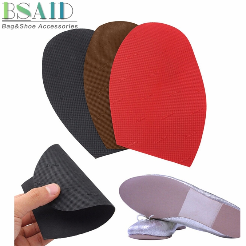 BSAID 1 Pair Ground Grip Rubber Half Soles, Anti Slip Cushion Outsole Protective Forefoot Pad,Soft Repairs Shoe Repair Supplies