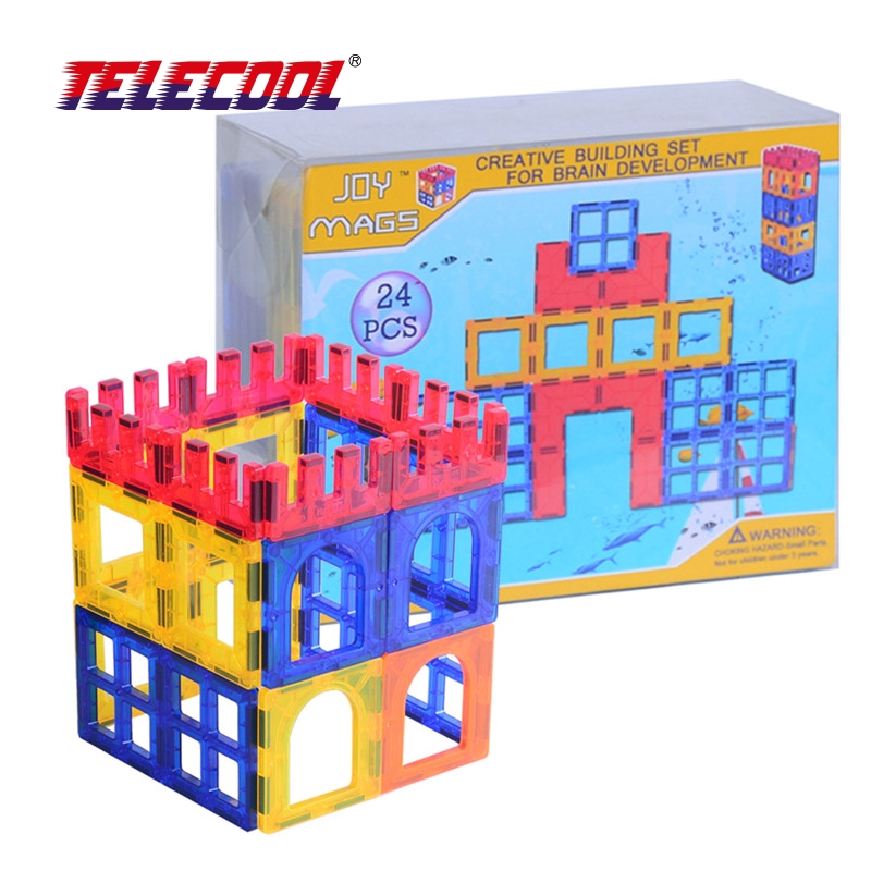 TELECOOL 26/34/44PCS Magnetic Tiles Models Blocks DIY Building Toys Inspire Adult & Kids Learning Educational MAGNETIC Toy telecool circuits smart electronic block w 58 kit integrated circuit building blocks educational science innovation learning toy