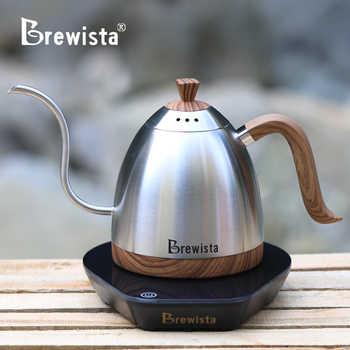 220VElectric coffee pot Fine mouth brew coffee pot Pour Over Coffee Tea Kettle Gooseneck Pot600ml