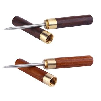Stainless Steel Ice Pick with Wooden Handle and Sheath Kitchen Tool by Leeseph ice pick crusher crushed with wooden handle cocktail ice crusher metal pick bar chisel household kitchen bar tool