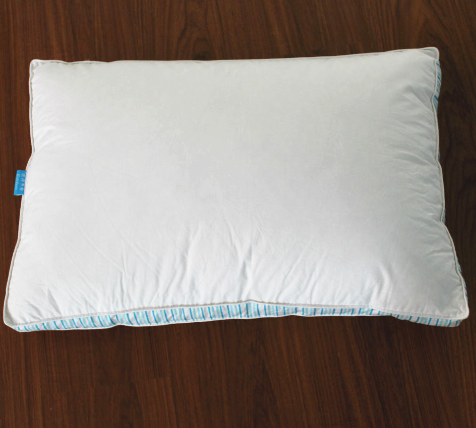 Peter Khanun 100 Cotton Shell 300TC Enclosing Wall Rectangle Neck Pillows Filling With 15 White Duck