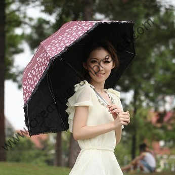 Super lightร่ม, 100%ครีมกันแดด, UPF> 50 +, ladies'parasol, 8พันซี่โครง,สีดำเคลือบสีเงิน,กระเป๋าร่ม,ยูวีปกป้อง,โค้งปัก