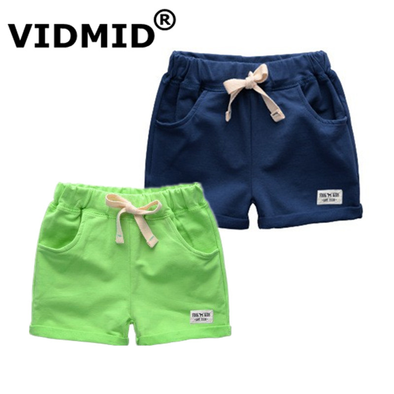 VIDMID Autumn Brand Boys solid shorts Kids Bottom Casual Cotton Shorts Baby Toddler Boys Shorts clothes Children's trousers 1001 kids pineapple print tee with rolled hem shorts