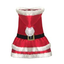 Pet Canine Pet Garments Christmas Outwear Coat Santa Claus Costume Hoodie Attire XS,S, M, L,XL