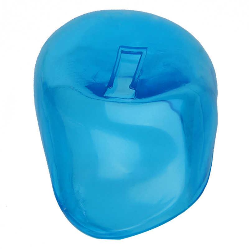 2 pçs macio capa de orelha de silicone azul protetor de tintura de cabelo proteger a cor do salão de beleza novo