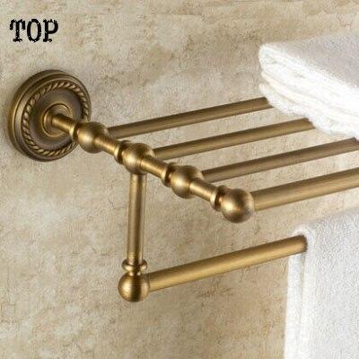 luxury antique bathroom towel bar towel rack brass bronze towel holder bathroom hardware accessories free shipping antique brass towel ring towel bar towel holder bathroom accessories home decoration