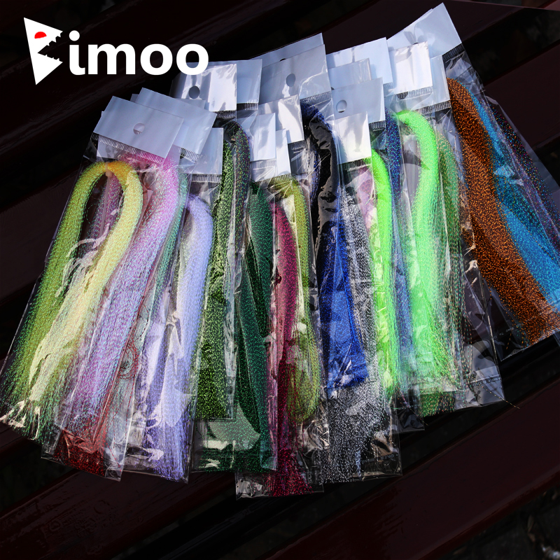 Bimoo 4 Pack Flashabou Tinsel Flybinding Crystal Flash for Jig Hook - Fiske - Bilde 1