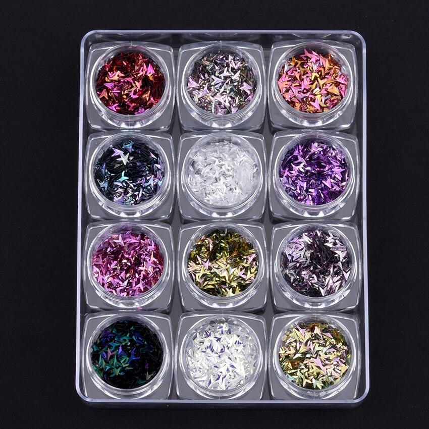 Nails Art & Werkzeuge Liefern 12 Teile/satz New Nails Dekorationen Kommen Glitters Nagel Pailletten 3d Pfeil Design Für Nägel Dekorationen Zubehör Yst012 Attraktives Aussehen
