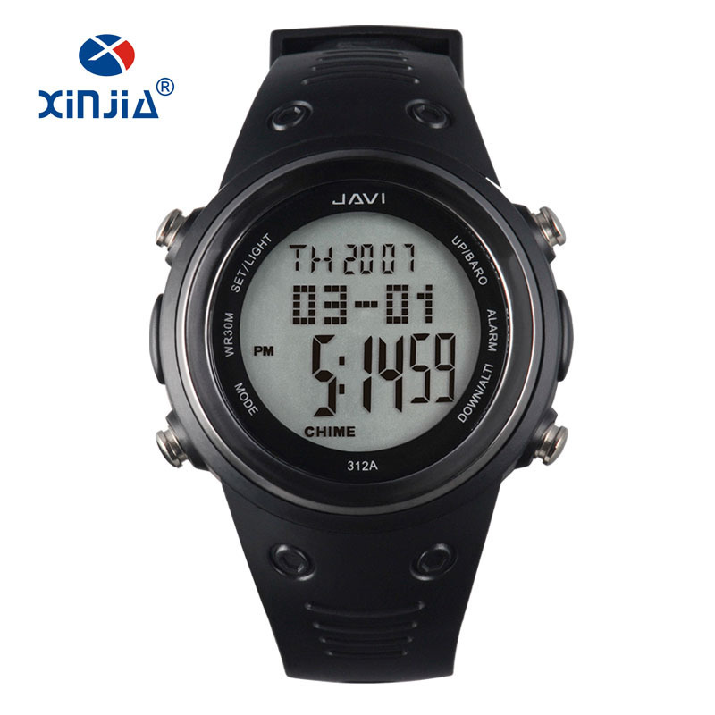 2018 New Mens Sports Watches XINJIA Brand Outdoor Digital Watch Casual Altimeter Countdown Pressure Thermometer Wristwatch Shock 2018 new sports watches men brand outdoor digital watch hours altimeter countdown pressure compass thermometer men wrist watch
