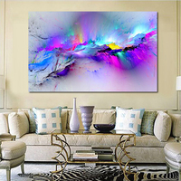JQHYART Wall Pictures For Living Room Abstract Oil Painting Clouds Colorful Canvas Art Home Decor No Frame