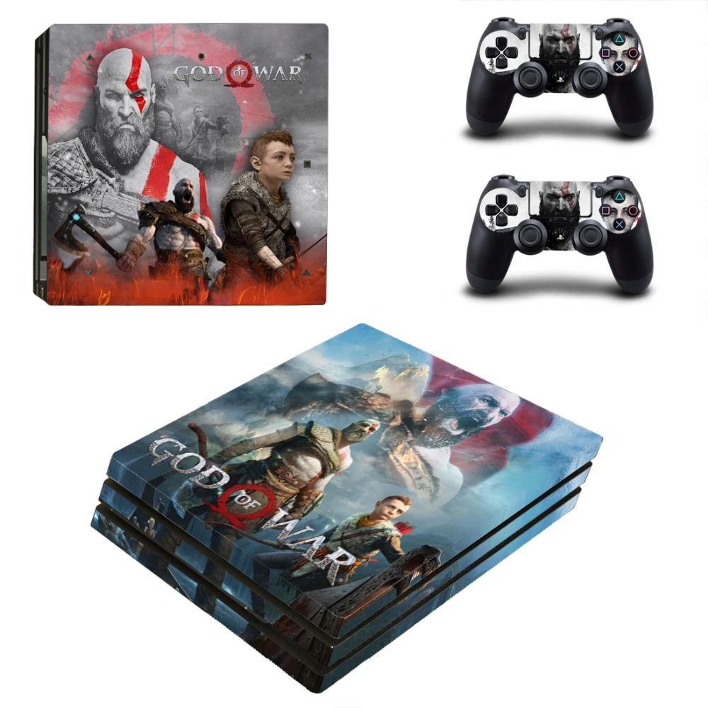 Game God of War PS4 Pro Skin Sticker Decal Vinyl for Sony Playstation 4 Console and 2 Controllers PS4 Pro Skin Sticker