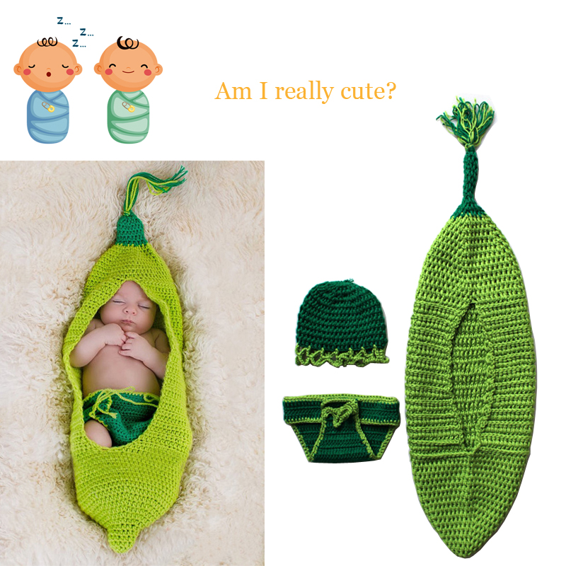 Newborn Baby Photography Props Outfits with Hat Shorts Unisex for Babies 100% Handmade Crochet Knit Costume Set Free Shipping