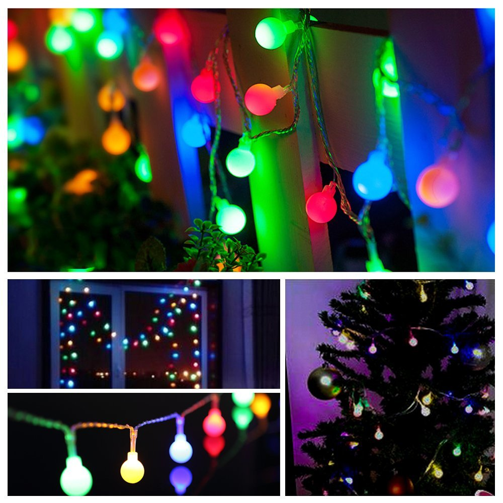 20M 200 LEDs 110V 220V waterproof IP65 outdoor multicolor LED string - Pencahayaan liburan - Foto 4