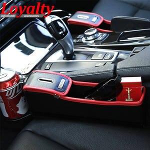 Loyalty 2 Pcs Leather Waterproof Auto Seat Slit Gap Pocket Catch Large Storage Box