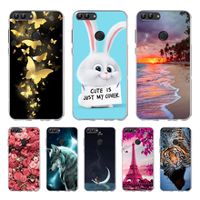 For TPU Huawei P Smart Case TPU Soft Silicone Back Phone Cases For Huawei P Smart Cover FIG-LX1 Capas Cases цена
