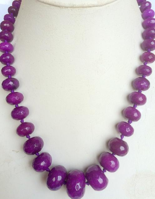 """5X8mm Faceted Red Ruby Abacus Necklace 18/"""" AAA"""