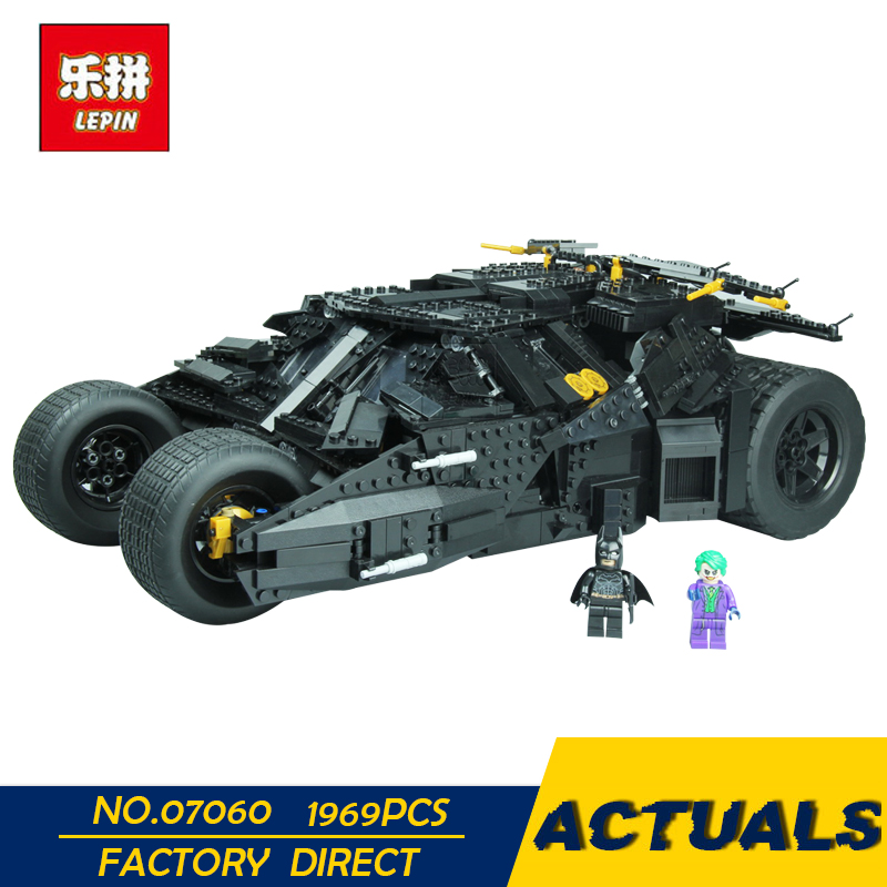 LEPIN 07060 Super Hero Movie Series 1969Pcs The Batman Armored Chariot Set 76023 Building Block Kids Bricks Toys lepin 07060 super series heroes movie the batman armored chariot set diy model batmobile building blocks bricks children toys