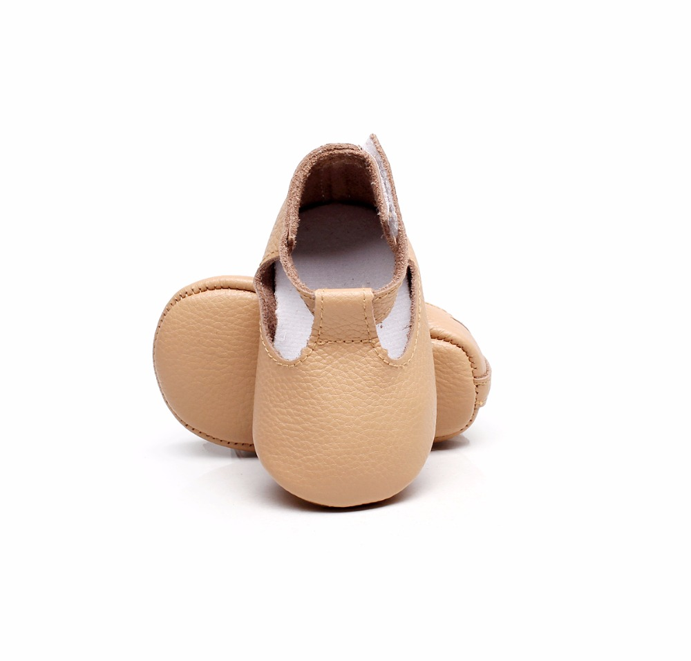 Candy Color Baby Mary Jane Shoes Genuine Leather Newborn Toddler Baby Girl Moccasins First Walkers Soft Sole Shoes For 0-24M