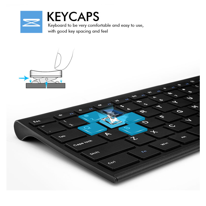 Ultra Thin Metal Wireless Slim keyboard and mouse combo 3