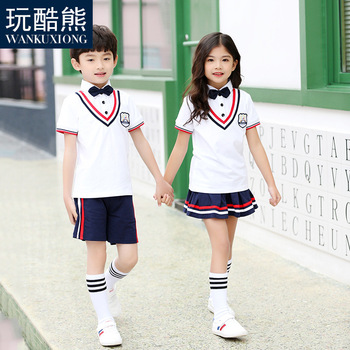 eb8ff11a03 Estudiantes Chorus ropa uniformes escolares japoneses para la muchacha  muchachos Navy falda camisa Kindergarten uniformes trajes D-0630