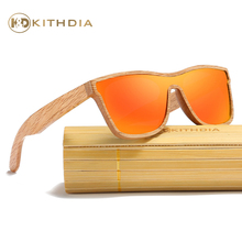 Kithdia Natural Polarized Wooden Sunglasses With Bamboo Box and Support Drop Shipping / Provide Pictures #KD205